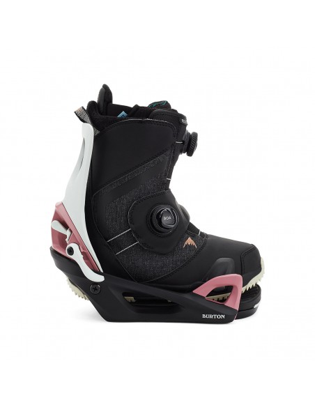 BURTON STEP ON 2021 WOMEN'S GREY/BLACK/ROSE